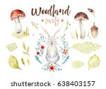 cute baby rabbit animal nursery ... | Shutterstock . vector #638403157