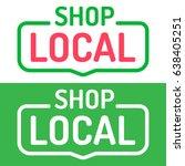 shop local. vector set flat... | Shutterstock .eps vector #638405251