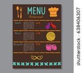 menu template. salad  pizza ...   Shutterstock .eps vector #638406307