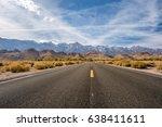 open highway in california  usa. | Shutterstock . vector #638411611