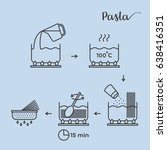 graphic info or cooking pasta... | Shutterstock .eps vector #638416351