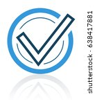 task completed icon. stock... | Shutterstock .eps vector #638417881