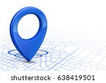 gps.gps high tech icon blue... | Shutterstock .eps vector #638419501