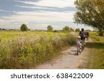 family cyclo holidays  father... | Shutterstock . vector #638422009
