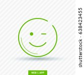 smile baby line vector icon | Shutterstock .eps vector #638423455