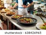 assortment of exquisite dishes... | Shutterstock . vector #638426965