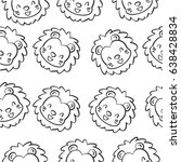 doodle lion animal design... | Shutterstock .eps vector #638428834