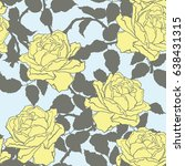 seamless pattern with flowers... | Shutterstock .eps vector #638431315