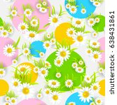 summer or spring template for... | Shutterstock .eps vector #638431861