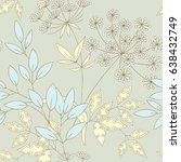 seamless pattern with flowers... | Shutterstock .eps vector #638432749