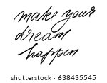 quote calligraphy phrase... | Shutterstock .eps vector #638435545