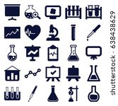 analysis icons set. set of 25... | Shutterstock .eps vector #638438629