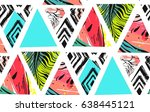 hand drawn vector abstract... | Shutterstock .eps vector #638445121