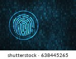 digital fingerprint security... | Shutterstock . vector #638445265