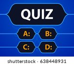 quiz game vector illustration.... | Shutterstock .eps vector #638448931