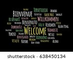 welcome in different languages... | Shutterstock .eps vector #638450134
