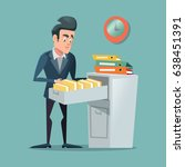 businessman searching document... | Shutterstock .eps vector #638451391