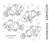 elements of a clown fish made... | Shutterstock .eps vector #638452234
