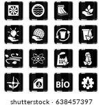 alternative energy vector icons ...   Shutterstock .eps vector #638457397