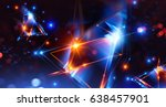 3d abstract background with... | Shutterstock . vector #638457901