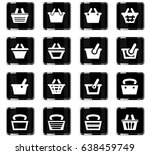 basket vector icons for user... | Shutterstock .eps vector #638459749