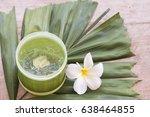 natural herbal soothing gel... | Shutterstock . vector #638464855