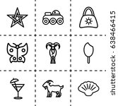 collection icon. set of 9... | Shutterstock .eps vector #638466415