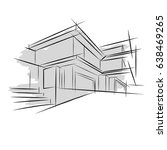 architecture. sketch. drawing... | Shutterstock .eps vector #638469265