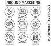 inbound marketing vector icons... | Shutterstock .eps vector #638471071