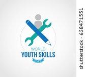 world youth skills day. | Shutterstock .eps vector #638471551
