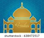 ramadan kareem beautiful... | Shutterstock .eps vector #638472517