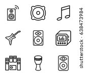 bass icons set. set of 9 bass... | Shutterstock .eps vector #638473984