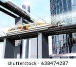 concept of magnetic levitation... | Shutterstock . vector #638474287
