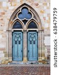 Arched Beautiful Gothic Door O...
