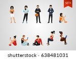 young people set. characters... | Shutterstock .eps vector #638481031