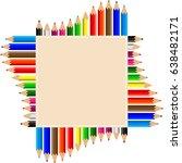 color pencils set vector... | Shutterstock .eps vector #638482171