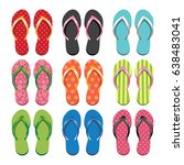 Set Of Colorful Flip Flops....