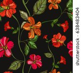 elegant seamless pattern with... | Shutterstock . vector #638483404