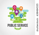 public service day | Shutterstock .eps vector #638484535