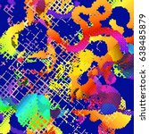 abstract vector background dot... | Shutterstock .eps vector #638485879