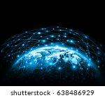 earth from space. best internet ... | Shutterstock . vector #638486929