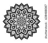 mandala. ethnic round ornament .... | Shutterstock .eps vector #638488087