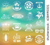 summer typography design... | Shutterstock .eps vector #638490331