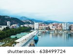 beautiful view of malaga city ... | Shutterstock . vector #638499724