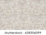 vintage whitewashed brick wall... | Shutterstock . vector #638506099