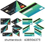 vector isometric credit card .... | Shutterstock .eps vector #638506375