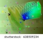 direction idea background | Shutterstock .eps vector #638509234