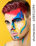 portrait of young man with... | Shutterstock . vector #638511394
