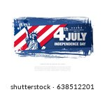 fourth of july independence day ... | Shutterstock .eps vector #638512201