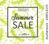 summer sale background with... | Shutterstock .eps vector #638513155